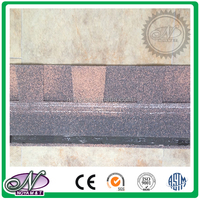 Colorful all kinds fiberglass asphalt shingle glaze fibergalss roof tile with low price