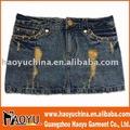 Pantalones vaqueros de moda del bordado diseño de bolsillo( hy4258)