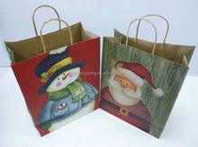 Christmas Santa Claus series kraft paper bags