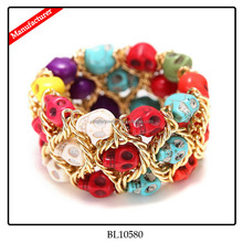 Resin Colorful People Head Bangles And Bracelets