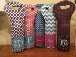 Personalized Wine Tote Monogram Your Own