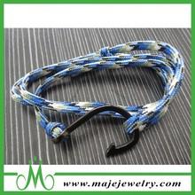 Free Sample Colorfull Paracord Stainless Steel Anchor Bracelet Fishhook Bracelet For Men