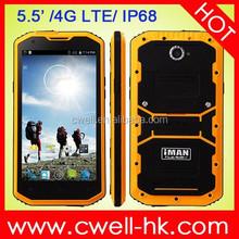 "IMAN I8800 4G IP68 Waterproof Rugged Smartphone 5.5"" Inch IPS Touch Screen 8.0MP Camera Dual SIM Card WIFI GPS"