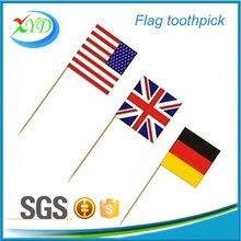 Outdoor promotional round wooden toothpicks for party