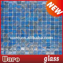 20x20mm golden metallic line glass mosaic sheets