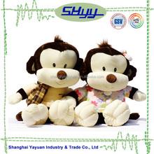 Decoration plush animal toys for wedding plush monkey
