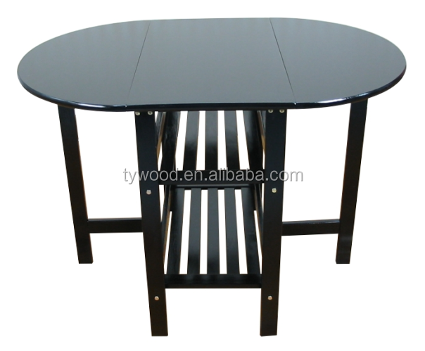 Butterfly leaf dining table with round appearance for Round table with butterfly leaf
