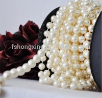 CB2 white plastic decoration pearls Beaded Curtains - Hanging Door Curtains for wedding and party decoration