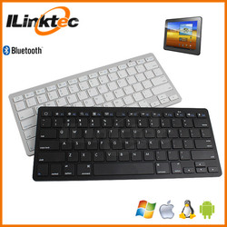 Wholesale cheap cost Slim BLUETOOTH wireless keyboard for iPAD support Android/Windows/iOS system