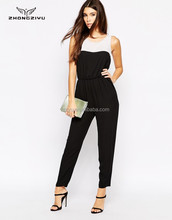 Top Popular White and Black Jumpsuit Pockets for Women Z4511