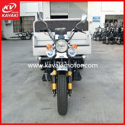 200cc China New Hot Sale Three Wheels Motorcycle Silver Electric Start Tricycle