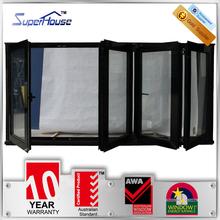 High quality AS2047 aluminium folding window with 26000 USD trade assurance amount