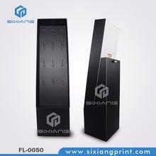 Cell phone Accessory Floor POS Cardboard Peg Hook Display Rack