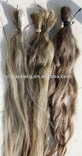 Wholesale chinese grey hair bulk