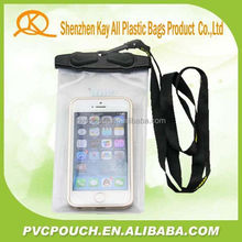 high quality recycle black waterproof clear cell phone pouch for men