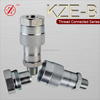 KZE-B Square Head Code male threaded Hydraulic hose quick release coupling fittings