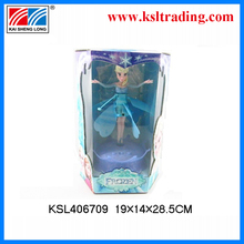 2014 electronic plastic musical angel wing beautiful girl fairy lights flying toy elsa toy