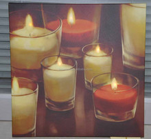 Wholesale home decor new product candles light up led canvas painting