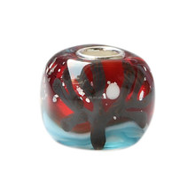Wholesale Trees in Night Murano Glass Bead with 925 Sterling Silver Tube For European Bracelets