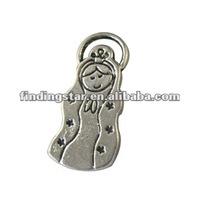 Tibetan silver Virgencita Cuidame charms A8412
