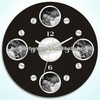 frameless painting wall clock/decorative mirror wall clocks/canvas painting wall clock