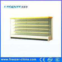 vertical chiller supermarket open front refrigerator flower display freezer with air curtain
