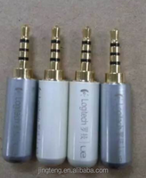 Earphone Connector Stereo 3.5 stereo plug with gold tone
