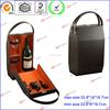 Fashion portable leather wine box for bottle & glasses D06-151047