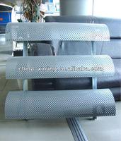 curved aluminum louver blade