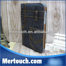 Newest Design jeans Stand Case for iPad Mini with Pocket Soft Protective Smart Cover for iPad