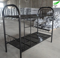 Double military bedroom steel spring stackable metal bed frame