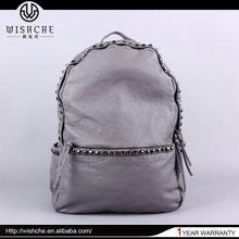 Wishche New Arrived Export Zipper Backpack Bag Leather Fashion Genuine Leather Bag Ladies Wholesaler in China make Backpack W005