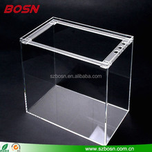 Manufacturer supplies exquisite clear custom acrylic aquarium tank