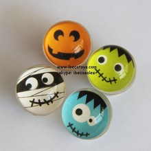 Cheap picture bouncing ball, smiling face rubber boucing ball for sale