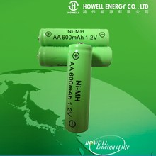 Nimh AA 600mah 1.2v Battery / 1.2v Ni-mh battery