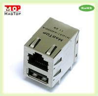 CAT5 Multi Port (1x2) Tab-Down rj-45 keystone jack Connector