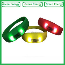 Events/Party supplier silicone glow in dark bands/customized glow in the dark wristbands