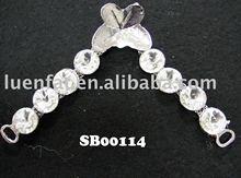 lady fashion upper decoration with acrylic beads
