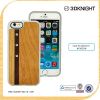 Customized Wood Mobile Phone Case With Bling Crystal For Apple iPhone 6 6s