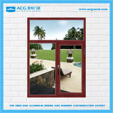 Fashionable Popular surface treatment for Wooden brown aluminum windows