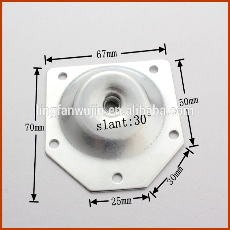 Furniture leg mounting platetable leg angle top plate lf 3039 buy 17g 21g watchthetrailerfo