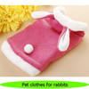 Cute pet clothes for rabbits, fashion pink rabbit dress with chickabiddy