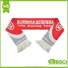 2015 famous brand double sides knitting scarf with company name