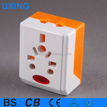 13A flat plug 3 pin electrical plug with socket