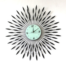 Decorative black metal sticker most popular antique metal wall clock