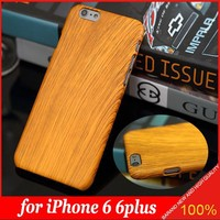Top Case Wood Grain Design Perfect Fit Hard Case Cover for Apple iPhone 5 5s 6 6plus