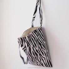 zebra pattern european business shopping bags