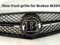 2008-2013 car black front grill For Mercedes Benz C Class W204 change to Brabus grille