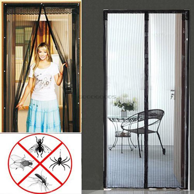 Москитная сетка с магнитами на дверь