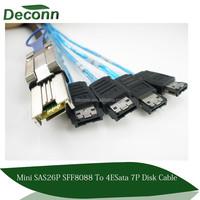 mini sas 26p sff8088 to 4 E sata 7p disk cable